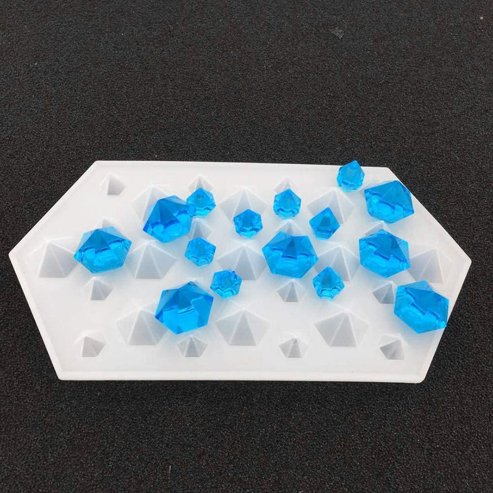 herramienta de resina para manualidades joyer/ía para hacer bricolaje molde de silicona con forma de diamante color blanco Ruby569y Moldes de silicona para hornear resina o arcilla