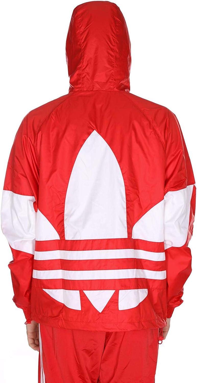 adidas Originals mensHAI60Big Trefoil Windbreaker Jacket Lush Red