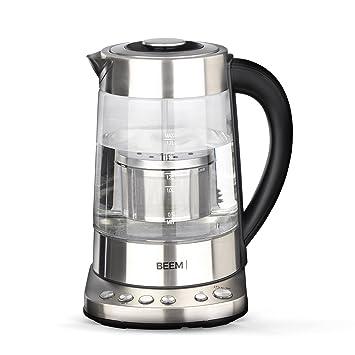 Beem Teatime hervidor de Agua con Teesieb, schnurlos Acero Fino: Amazon.es: Electrónica