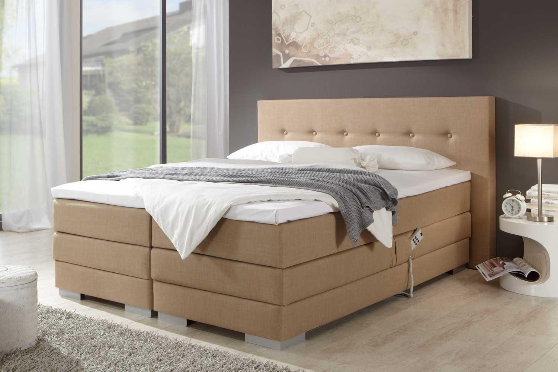 Cama con somier individual Malibu, ajustable, eléctrica, fabricado en Alemania, núcleo de muelles ensacados en la caja y en el colchón de 7 zonas, ...