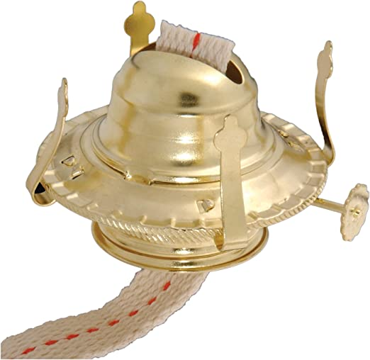 B&P Lamp #2 Kerosene Lamp Burner, Brass
