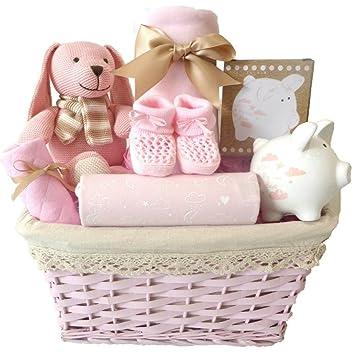 My First Teddy - Cesta de lujo para bebé, tamaño grande, color rosa ...