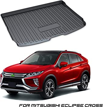 Yee Pin Kofferraumwanne Für Mitsubishi Eclipse Cross 2018 2019 Seitenschutz Tpo Material Laderaumschale Schutzmatte Für Sicheren Transport Von Gepäck Rutschfester Auto