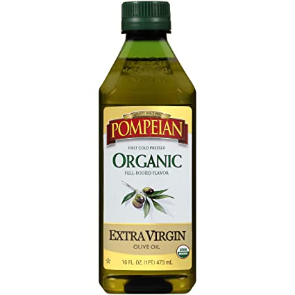 Pompeian Organic Extra Virgin Olive Oil – 48 Ounce