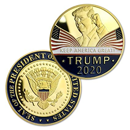 Donald Trump 2020 Challenge Coin Keep America Great United States  Presidential Re-Election Campaign Gold Plated Collectible Eagle Coins