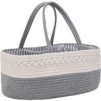 Goldwheat Baby Diaper Caddy Organizer Nursery Storage Bin Portable Diaper Storage Basket for Changing Table & Car