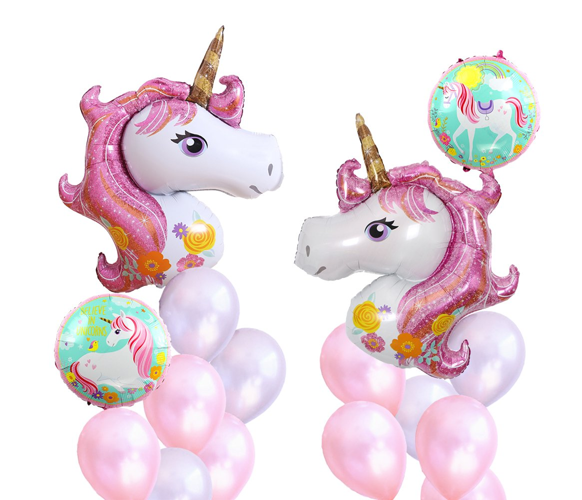 Foil Lucky Horse and Pearly Lustre Latex Balloons for Confession Bachelorette Baby Shower Window Design Birthday Girl Party Decoration (Pink Lucky Horse)