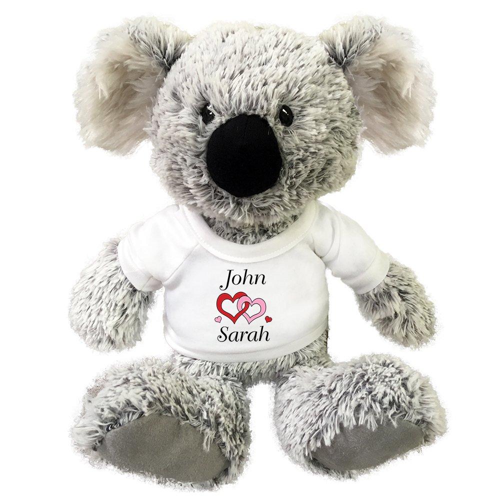 Personalized Valentine Love Heart Koala Teddy Bear - 12 Inch Plush by Mandy's Moon Personalized Gifts