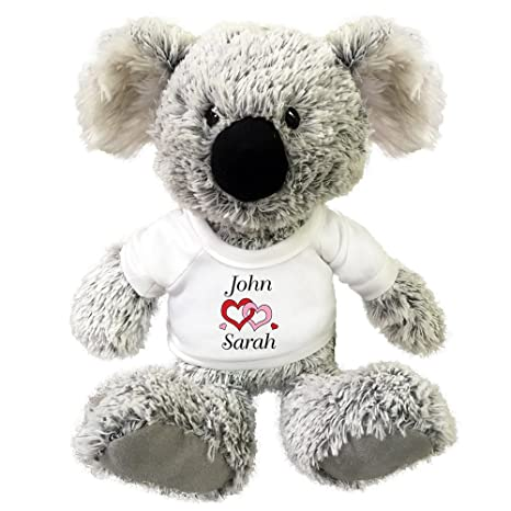 d1d71427 Amazon.com: Mandy's Moon Personalized Gifts Personalized Stuffed Koala  Teddy Bear - Love Hearts Valentine Design: Toys & Games