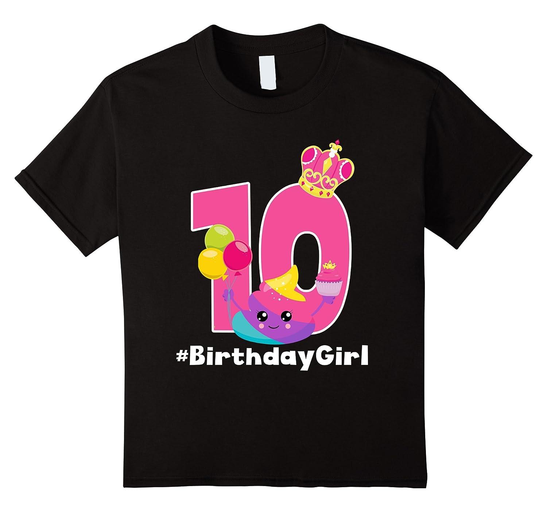 10th Birthday Poop Emoji Shirt
