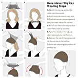 2 Pack Dreamlover Long Wig Caps, Natural Nude Mesh