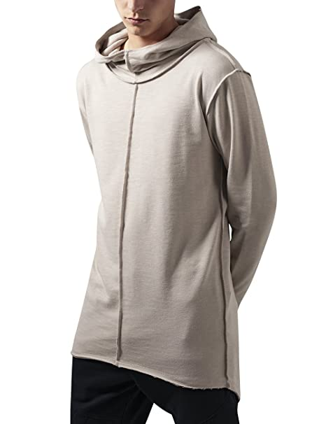 Urban Classics Open Edge Slub Terry Long Hoody at Amazon