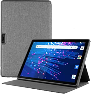 Lectrus Tablet 10 inch + Protective Case, Android 8.1 Oreo Go Edition,Google Certified, 16GB Storage,Tablet PC with Dual Sim Card Slots,Dual Camera,3G/WiFi,Bluetooth,GPS.Compatible with GMS, Netfilx