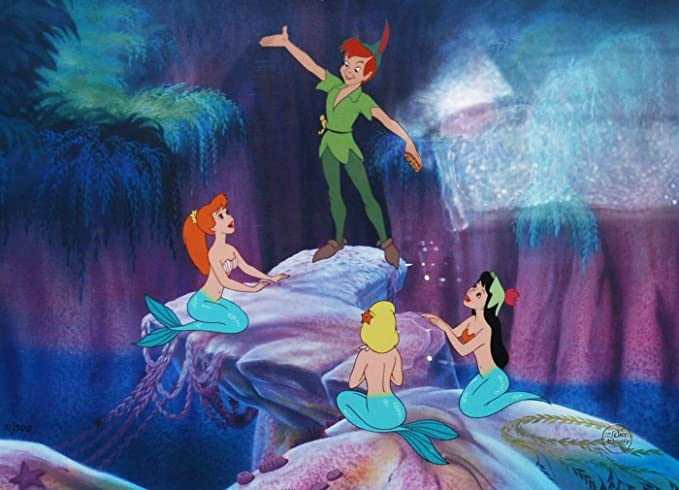 Image result for peter pan and mermaids