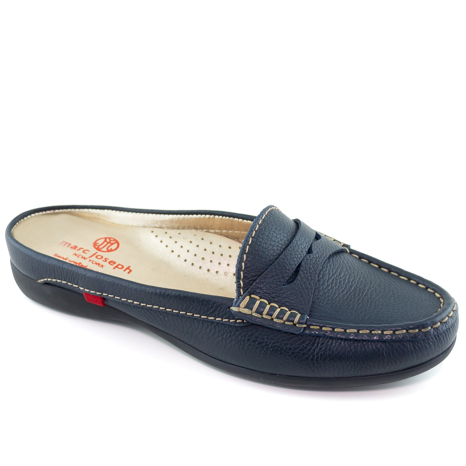 Marc Joseph New York Women's Union Mule Navy Grainy Slip On 7 by Marc Joseph New York (Image #1)