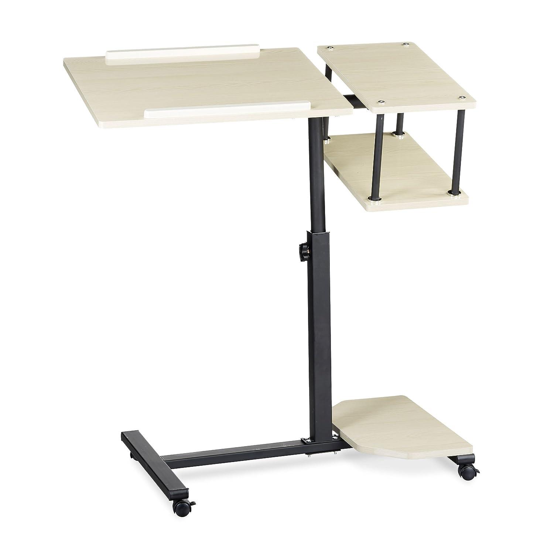 Elegant Höhenverstellbarer Beistelltisch Dekoration Von Relaxdays Tisch Höhenverstellbar Xl Hbt: 100 X