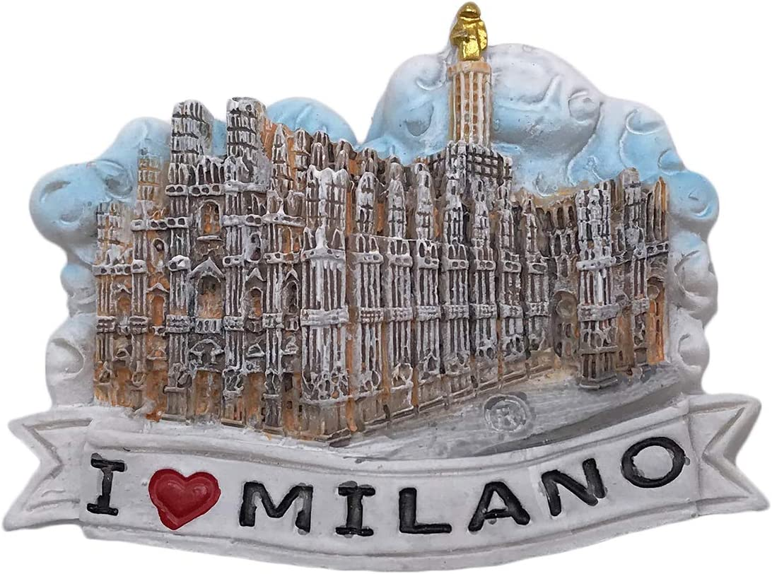 3D Milan Italy Refrigerator Magnet Tourist Souvenirs Resin Magnetic Stickers Fridge Magnet Home & Kitchen Decoration from China