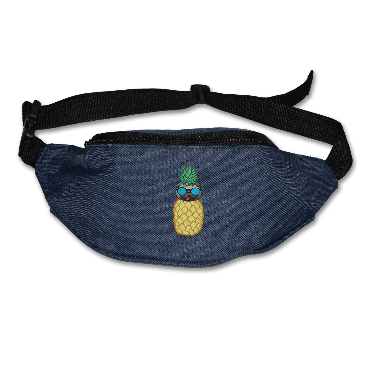 Cool Pineapple Pug Sport Waist Bag Fanny Pack Adjustable For Travel