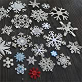20 PCS of Circular Snowflake Embroidery Lace Applique 7cm x 7cm