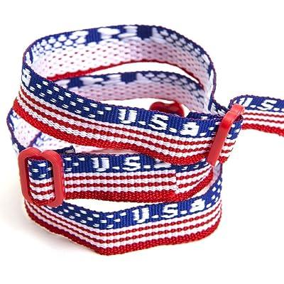 Fun Express USA Woven Friendship Bracelets (2 Dozen): Home & Kitchen