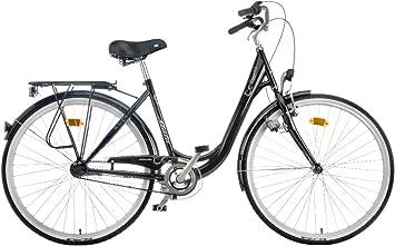 Atala 90-06281 - Bicicleta de Paseo para Mujer, Talla XS (155-160 cm), Color Negro: Amazon.es: Deportes y aire libre