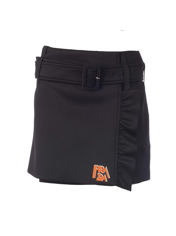 Prada Women's P157OHS1911S21F0806 Black Cotton Skirt
