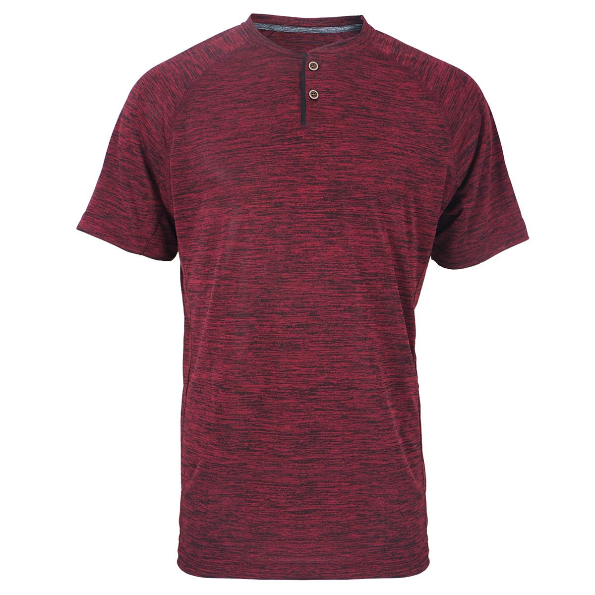 Eurogarment UPF 50+ Short Sleeve Performance T Henley Shirt for Men Casual Athletic Sports Dry Fit Tee with 2 Buttons