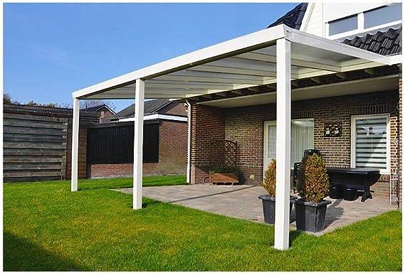 Terrazas überdachung aluminio 300 x 250 cm con policarbonato ...