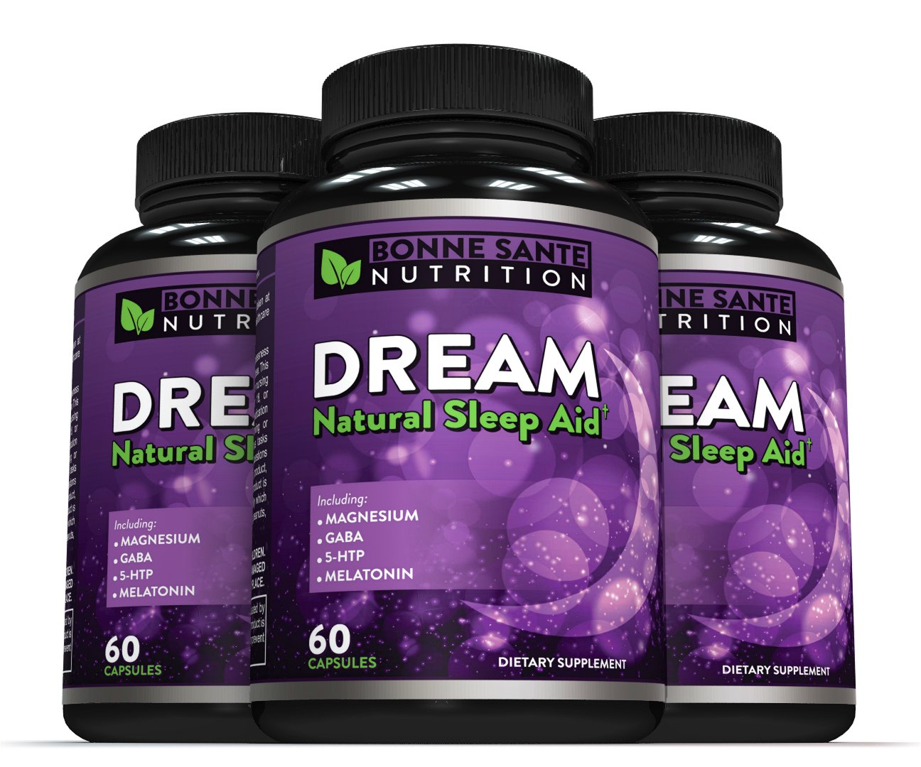 Amazon.com: Dream- Natural Sleep Aid - Includes Magnesium - GABA - 5-HTP - Melatonin, Supports Relaxation, Deep Sleep, and Refreshed Mornings, ...