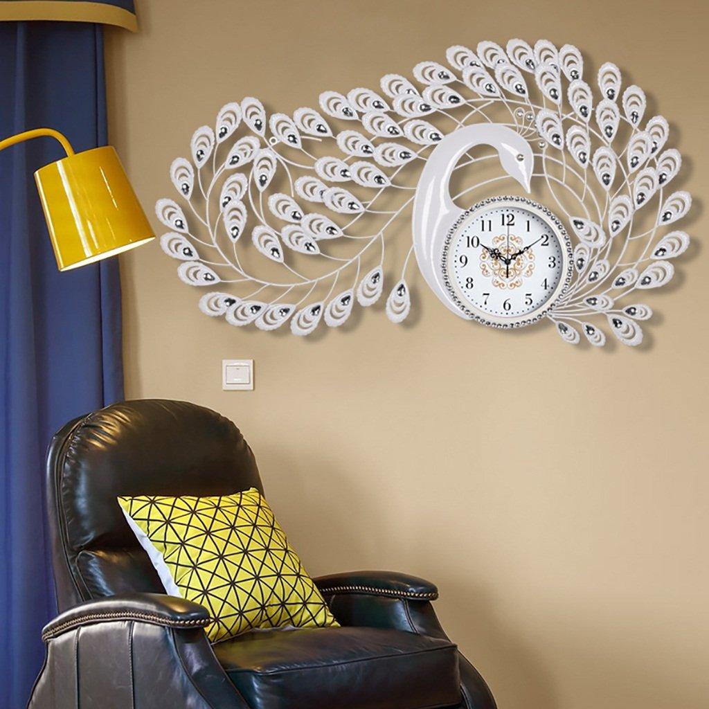 ピーコック創造的なヨーロッパの現代的な装飾時計 大きなサイレントクォーツ時計 (色 : 14) B07F5J51YS 14 14