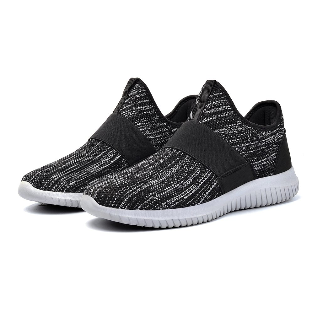 Troadlop Womens Tennis Shoes Lightweight Non Slip Workout Running Gym Sneakers Black Grey 7.5