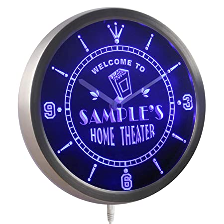 ADVPRO ncph-tm Home Theater Personalized Your Name Bar Beer Sign Neon LED Wall Clock