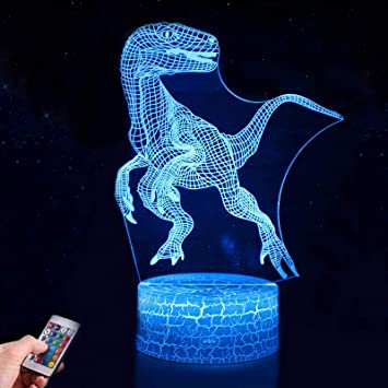 Dinosaurier 3d Nachtlicht Fur Kinder 7 Farben Nachtlicht Lampe Touch Usb Lade Tisch Schreibtisch Schlafzimmer Dekoration Coole Geschenke Ideen Geburtstag Weihnachten Fur Baby Freunde Amazon De Baby