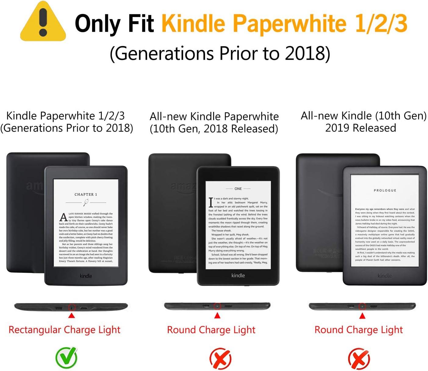 Huasiru Pintura Caso Funda para Kindle Paperwhite (versiones 2012 ...