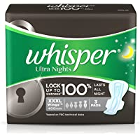 Whisper Ultra Nights Sanitary Pads - XXXL Wings (3 Pads)