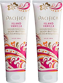 product image for Pacifica Island Vanilla Body Butter (Pack of 2) with Shea Butter, Jojoba Seed Oil, Cocoa Butter, Flax Seed Oil, Kukui Nut Oil and Vitamin E, 100% Vegan and Cruelty-Free, 8 oz