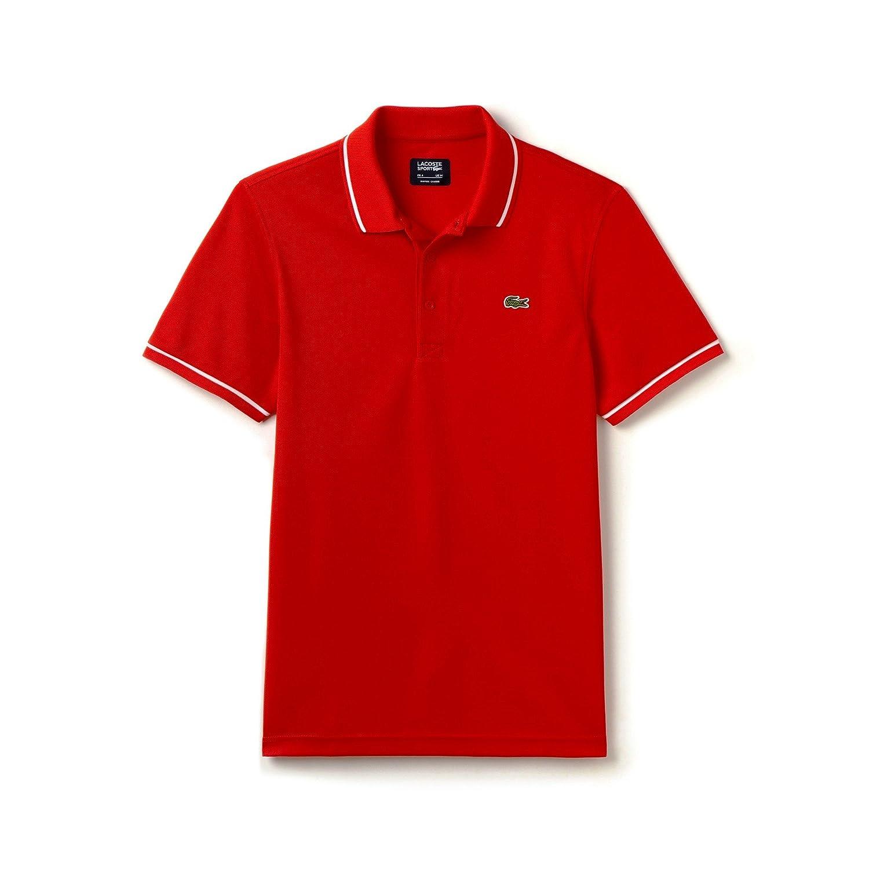 Lacoste Men's Sport Short Sleeve Ultra Dry Semi Fancy Polo Shirt DH9630-51