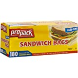 Propack Sandwich Bags 180 Count Pack Of 1