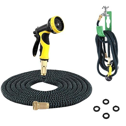 28 opinioni per PLUSINNO® Flessibile elastico Tubo per innaffiare acqua Tubo Set …