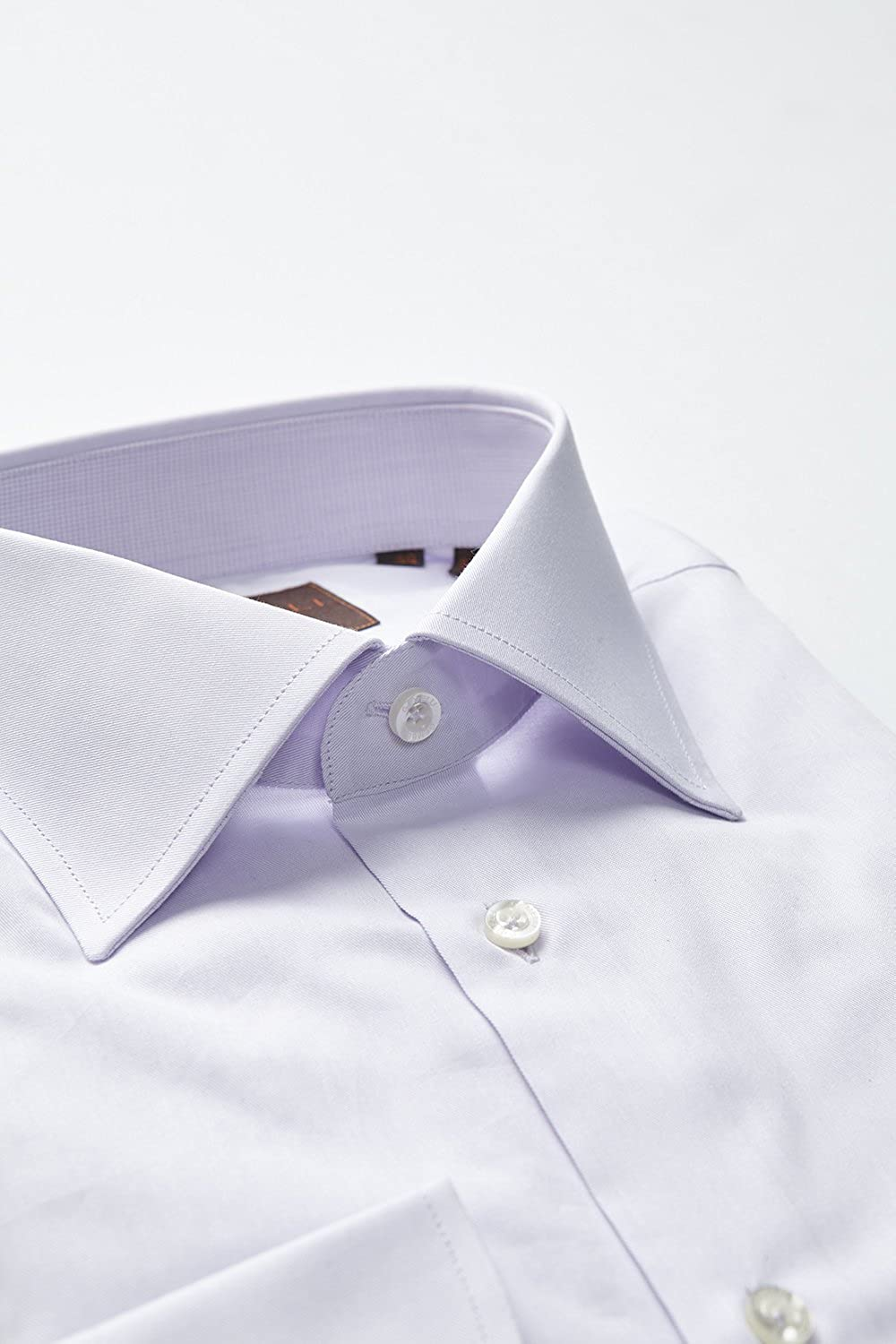 Long Sleeve Lavender Solid Shirt Mens Dress Shirt Slim Fit Made in Italy 100/% Cotton