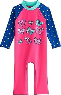 b38d57e65ad8b Amazon.com: Coolibar UPF 50+ Baby Hooded One Piece Swimsuit - Sun ...