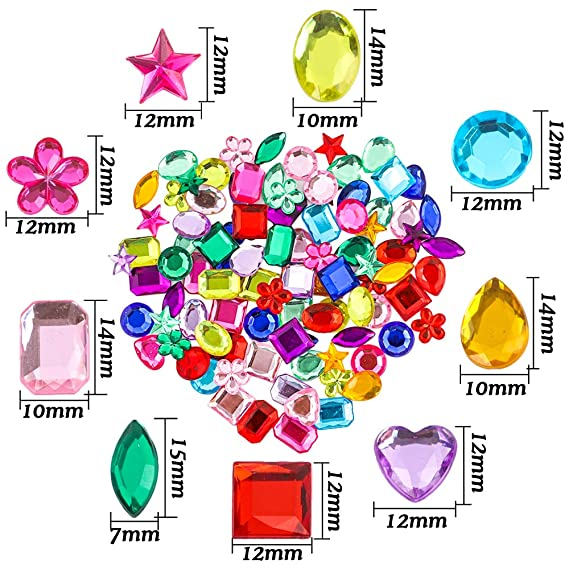 Amazon.com: YIQIHAI - Piedras preciosas acrílicas para ...