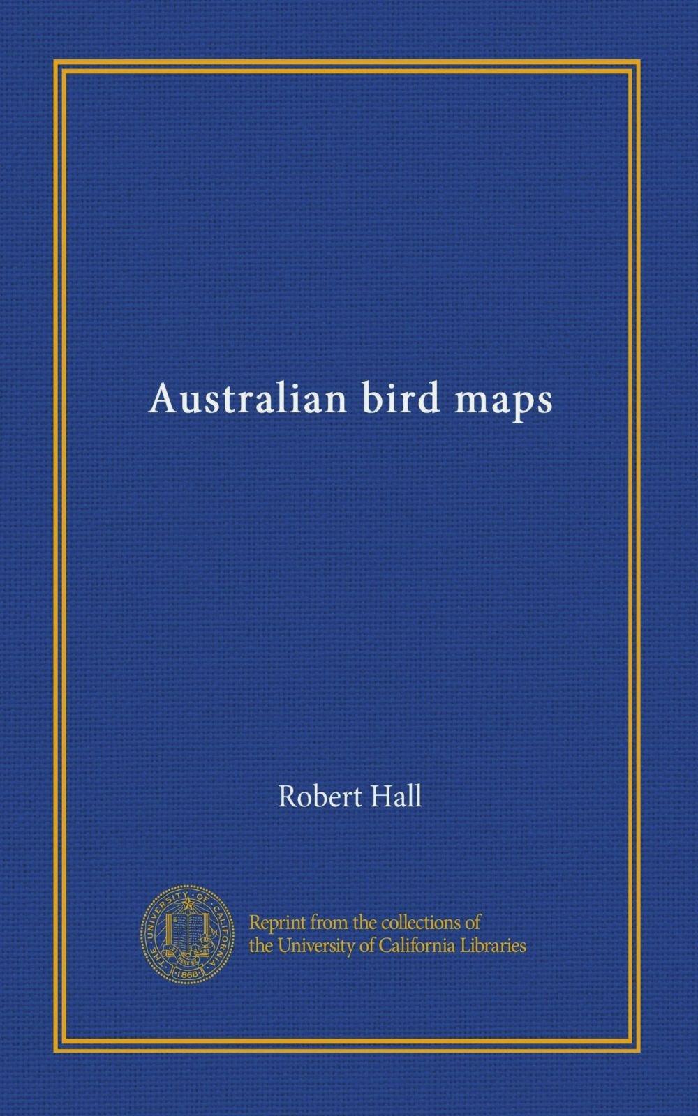 Australian bird maps pdf