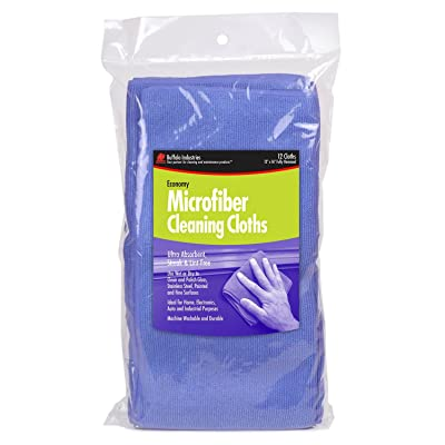 Buffalo Industries 65100 Blue Microfiber Cleaning Cloth: Automotive