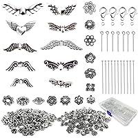 Anyasen Angel Wings voor sieraden maken Kit Angel Wings Silver Spacer kralen Vintage Angel Wing kralen sieraden kralen…