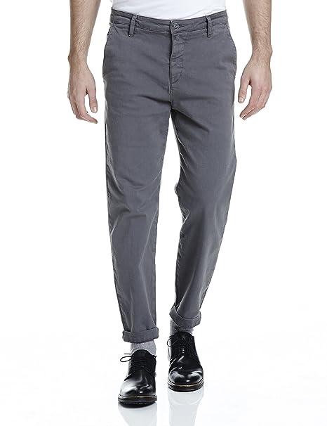 Dapper, Pantalones para Hombre, Gris (Dark Grey GY149), 29 Bench