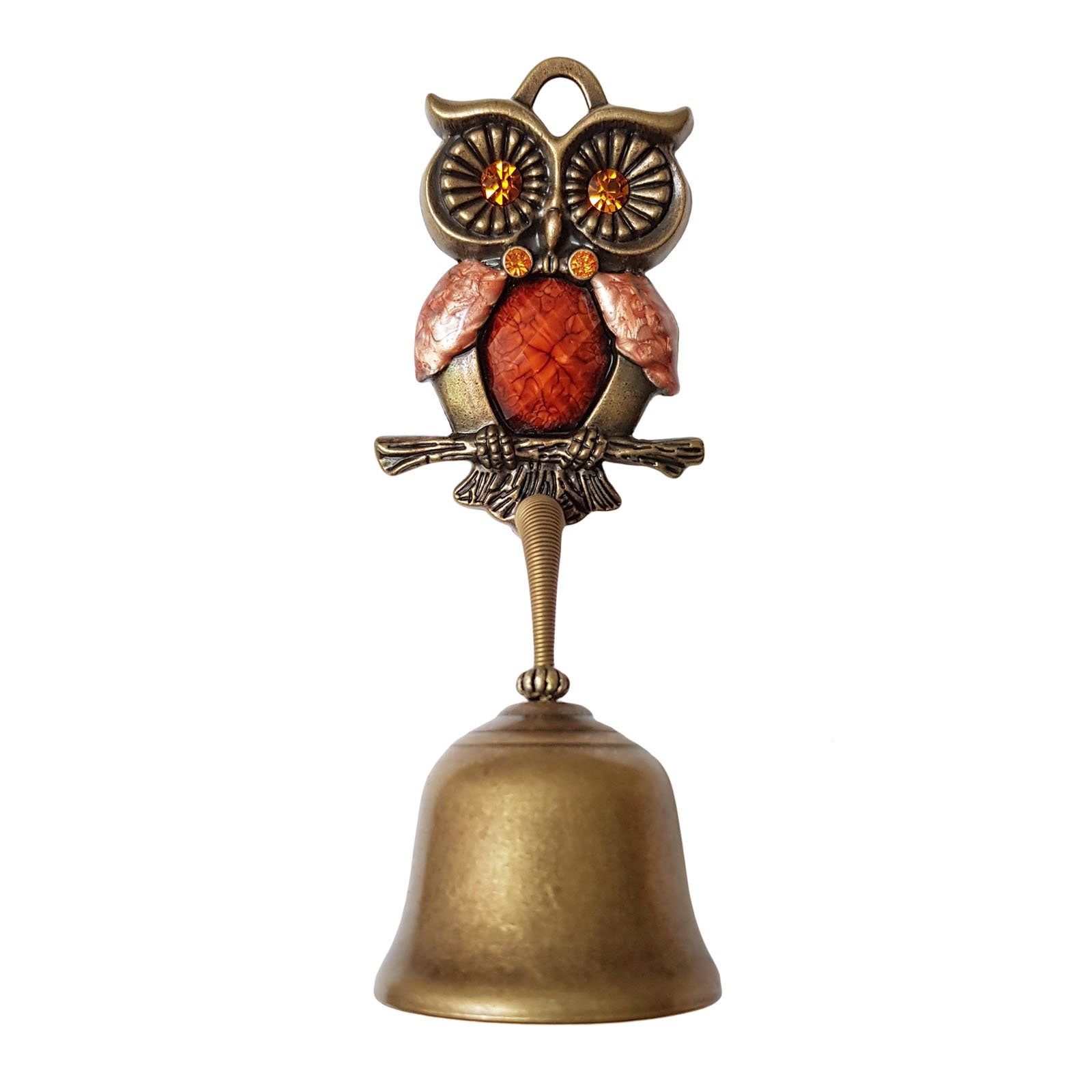 Owl Springy Shopkeepers Bell Entrance Alert Chime Compact & Lightweight Unique Design Home Decoration Doorbell A-Type (Orange) by YG-1 (Image #1)