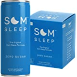 Som Sleep, The Original Som Sleep Support Formula with Melatonin, Magnesium, Vitamin B6, L-Theanine, GABA, Zero Sugar, 8.1 fl oz. Cans (4-Pack)