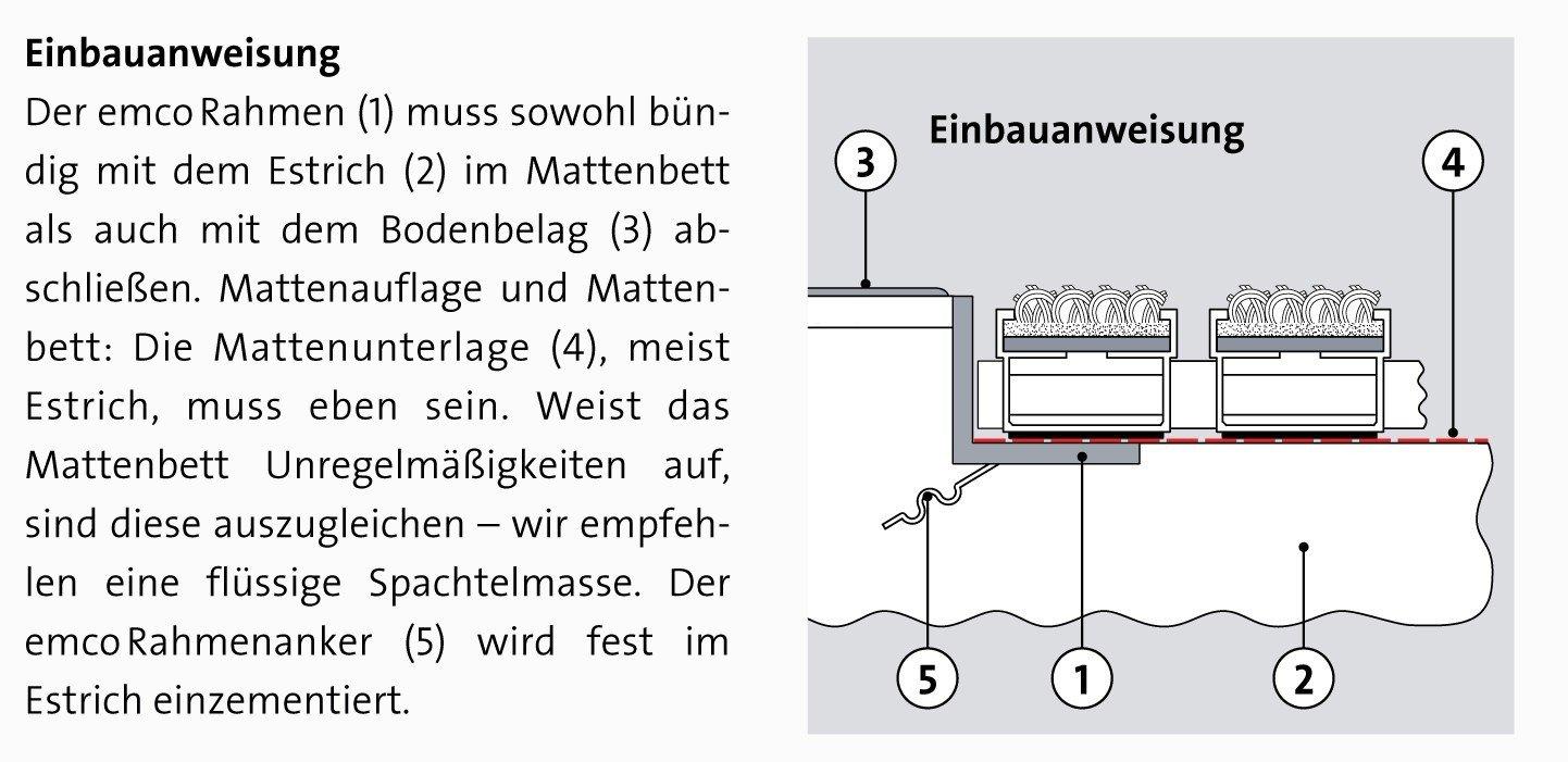 Gr/ö/ße:600 x 400 mm ALU Rahmen Fu/ßmatte T/ürmatte Schuhabstreifer EMCO Eingangsmatte DIPLOMAT Rips anthrazit 10mm