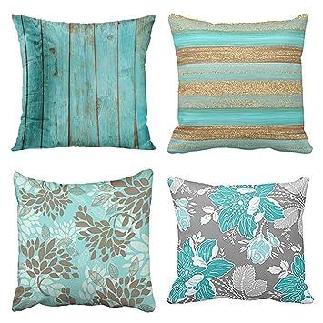 Amazon.com: Emvency - Juego de 4 fundas de almohada, color ...